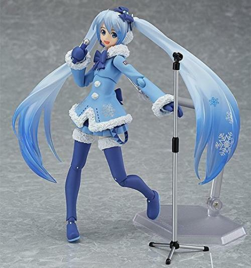NEW figma EX-039 Vocaloid SNOW MIKU Fluffy Coat ver Action Figure Max Factory