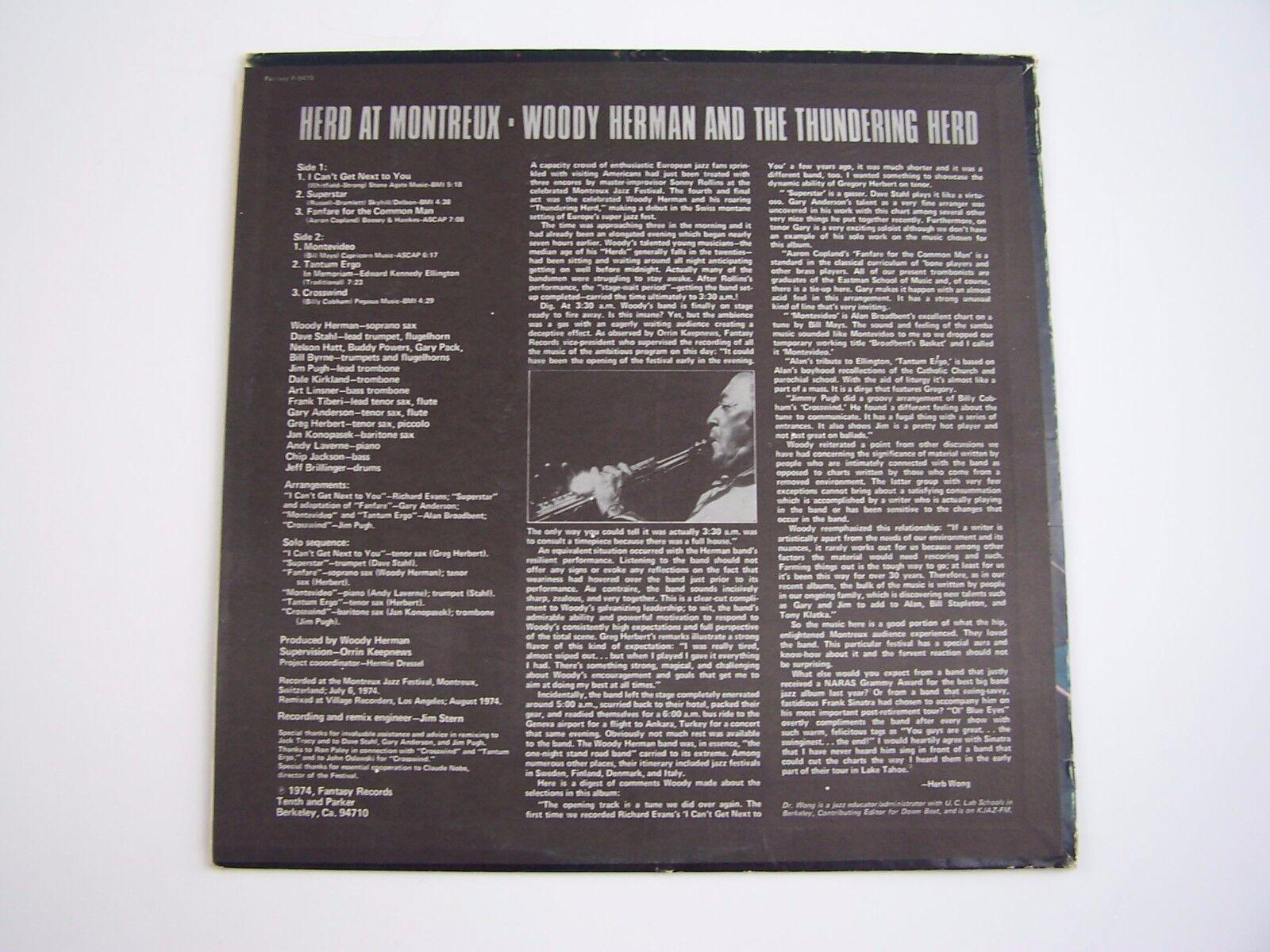 Woody Herman - Herd At Montreux Vinyl LP Record Album F