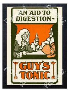 Historic-Guy-039-s-Tonic-Co-London-c-1910-Advertising-Postcard