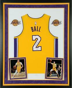 Lonzo Ball Los Angeles Lakers Deluxe Frmd Signed Nike Gold Swingman Jersey