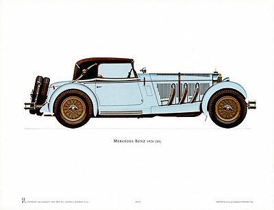 1928 Mercedes-Benz Art Poster Print, 16x12