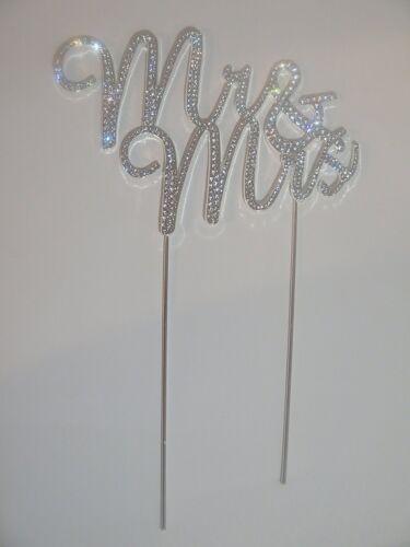 Cutie Made Mr/&Mrs Monogram Silver Rhinestone Wedding Event Cupcake Cake Topper