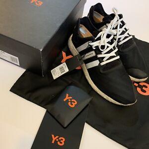 9ab1de062bef1 Yohji Yamamoto Y-3 Adidas Run Racer Boost Stripe Black Running Shoes ...
