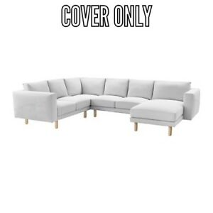 Magnificent Details About Ikea Cover Slipcover For Norsborg 5 Seat Sectional Sofa Finnsta White Bralicious Painted Fabric Chair Ideas Braliciousco