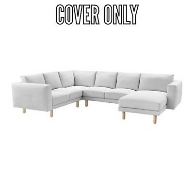 IKEA COVER SLIPCOVER for NORSBORG 5 SEAT SECTIONAL SOFA FINNSTA white | eBay