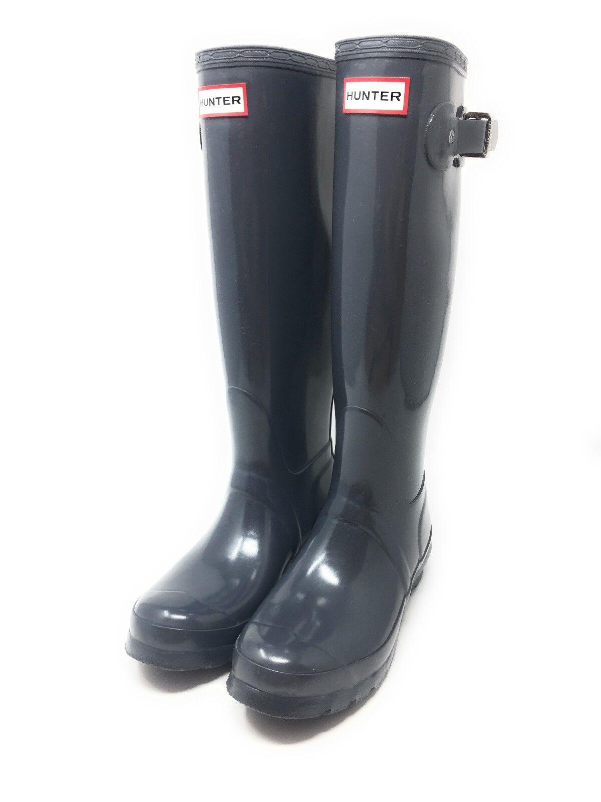 Hunter Original Tall Gloss W23616, Damen Damen Damen Gummistiefel grau Gr. 37 NEU Stiefel 523a30