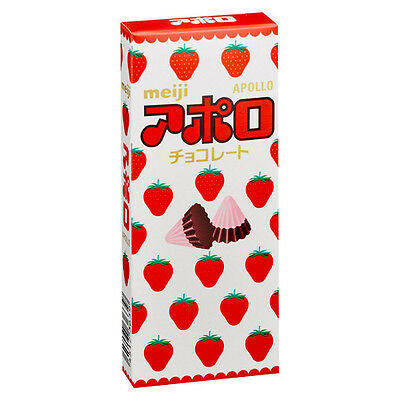 meiji☀Japan-APOLLO CHOCOLATE 48g Triangle type chocolate of strawberry & milk.