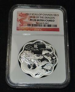 2012 Canada Lunar Lotus Year Of The Dragon NGC PF 70 Ultra Cameo 1 oz. Silver