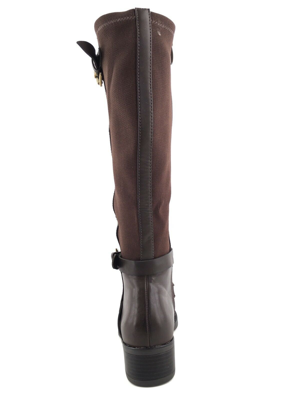Franco Sarto damen Chrome braun Knee Knee Knee High Leather Knit Stiefel Größe 5.5 M  cbb20a