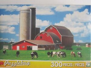 Big Red Barn & Dairy Cows, Wisconsin Fun Puzzlebug 300 Pcs ...