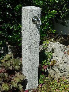 Wasserzapfsaeule-aus-geflammten-Granit-Wasserzapfstelle-Aussenwasserhahn