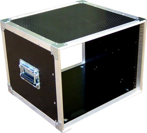 "8U 19/"" Rack Sleeve Swan Flight Case for Studio Install Hex"
