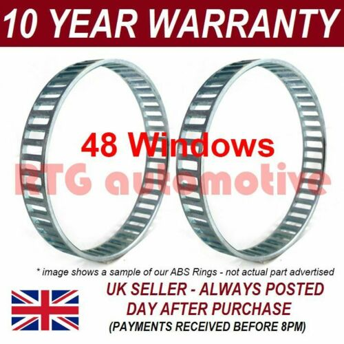2x ABS Reluctor Rings Rear Fits Mercedes SLK 170 2.3 Petrol 2000-2001
