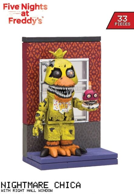 FNAF Micro Construction Set #2 RIGHT HALL WINDOW + Nightmare CHICA
