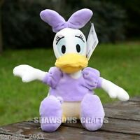 """DISNEY MICKEY MOUSE CLUBHOUSE PLUSH STUFFED TOYS DAISY DUCK 13"""" SOFT DOLL"""
