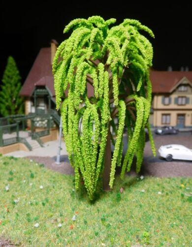 95 mm High 10 Light Green Willow Trees