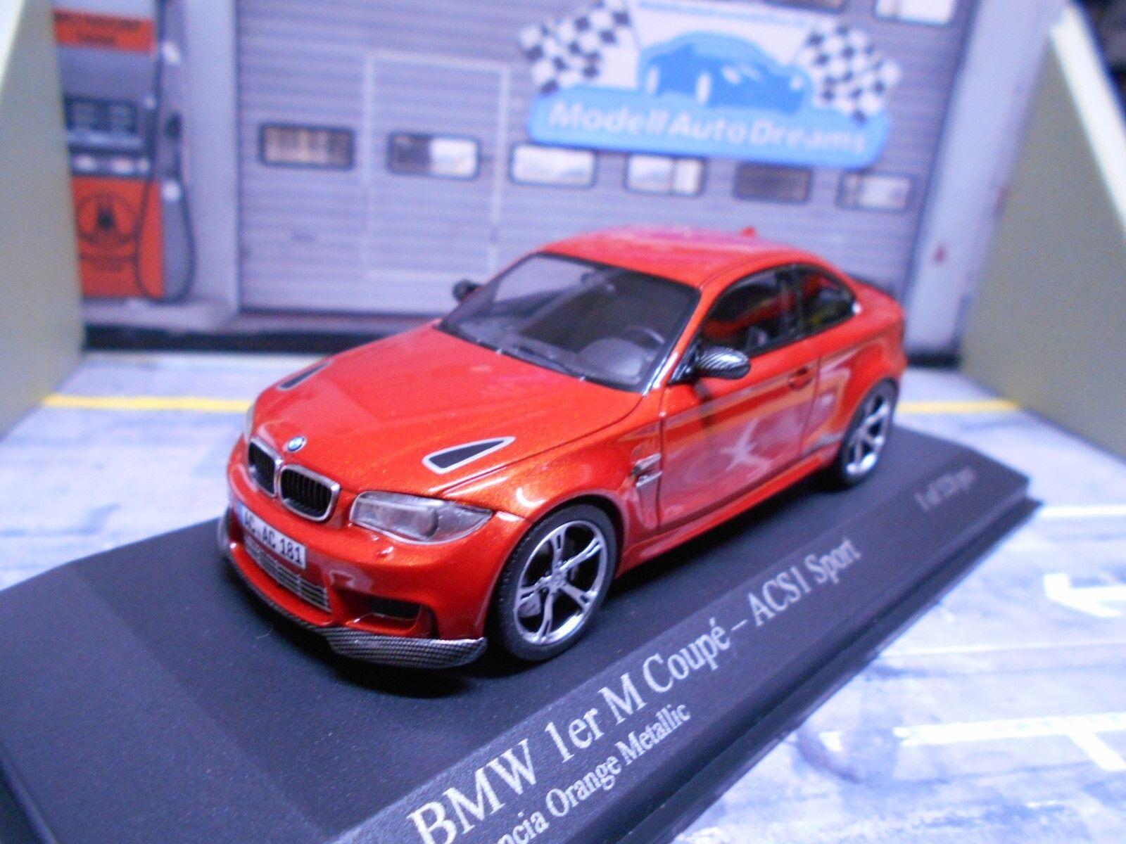 BMW 1er série m1 M Coupé boulette acs1 acs1 acs1 sport Orange 2011 Minichamps 1 43 75a30f