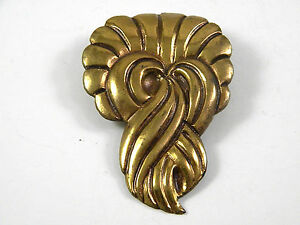 Gold Tone 1920s Dress Clip Vintage Jewelry