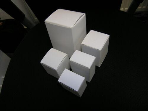 Karton außen weiß 46 x 31 x 51 mm 50 Faltschachteln NEUTRAL
