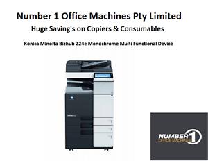Details about Konica Minolta 224e Mono Copier, Fax, Network Print/Scan to  email/ PDF/TIFF