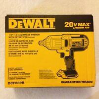 Dewalt Dcf889b 1/2 20 Volt 20v Max High Torque Impact Wrench In The Box