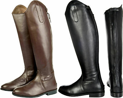 HKM Valencia Long Leather Riding Boot-Standard//Standard-Black-Brown-Tan-Navy-Gry