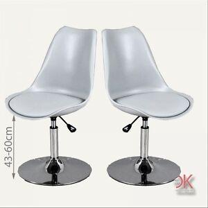 Drehstuhl esszimmer  2er Set Stuhl Esszimmer Küchen Drehstuhl Kunststoff modern grau ...