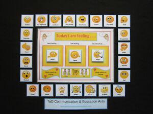 Aujourd'hui Je Me Sens Chart-adhd Autisme Sen La Démence D'alzheimer Aide Visuelle Pecs-afficher Le Titre D'origine Distinctive Pour Ses PropriéTéS Traditionnelles