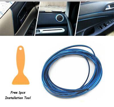 Car Point Molding Accessory Edge Gap Line Blue LED Lamp Strip Interior Garnish