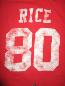 7a5e4cc1 Reebok JERRY RICE No. 80 SAN FRANCISCO 49ers (LG) T-Shirt Jersey ...