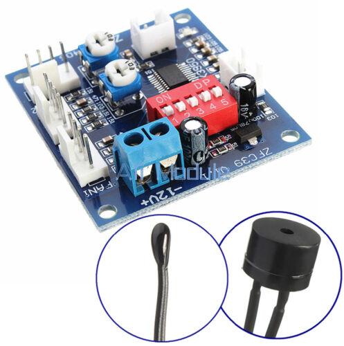 12V PWM PC CPU Fan Temperature Control Speed Controller Module High-Temp Alarm N