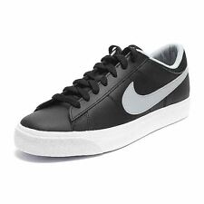 Nike Match Supreme Leather Black Gray White Men's Shoes Size 10