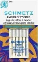 Schmetz Gold Titanium Embroidery Needles Size 90/14, New, Free Shipping on sale