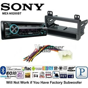 Details about Sony Car Stereo Radio Bluetooth CD Player Dash Install Mount  Kit Harness Antenna