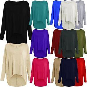 Wine, 1X New Womens Plus Size Uneven Dip Hem Long Tunic Tops