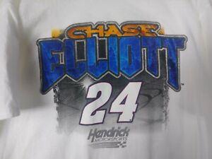 Hendrick-Motorsports-Nascar-Mens-White-Graphic-T-Shirt-2XL-24-Chase-Elliot