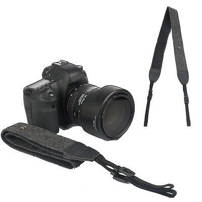 Black Camera Shoulder Neck Vintage Strap Belt for Sony Nikon Canon Olympus DSLR