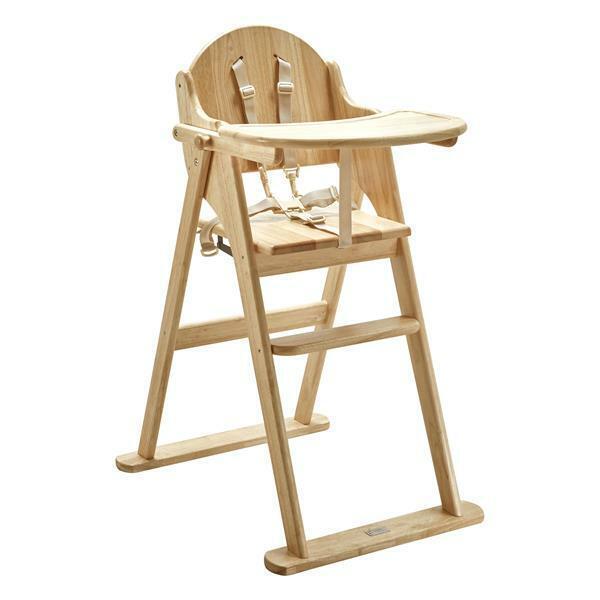 East Coast Wooden Folding Highchair Natural