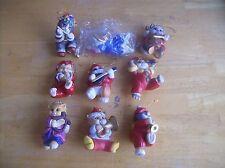 Set Of 9 Franklin Mint The Santa Claws Symphony Cat Ornaments By Bill Bell