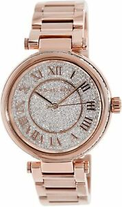 NEW-Michael-Kors-MK5868-Skylar-Crystal-Pave-Rose-Gold-Tone-Wrist-Watch