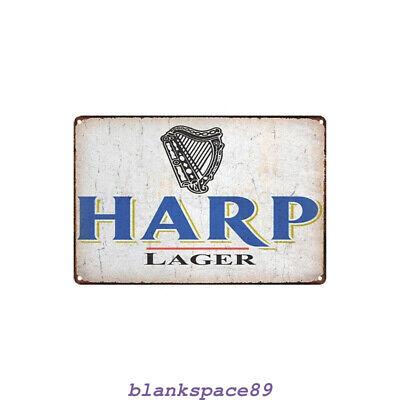 Metal Tin Sign harp lager beer  Decor Bar Pub Home Vintage Retro