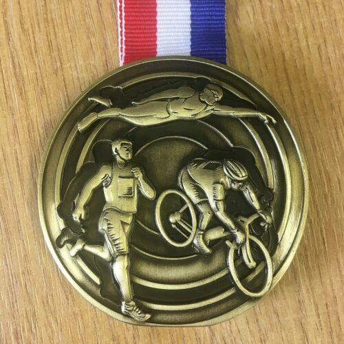 Swim Bike /& Run medal//race momento