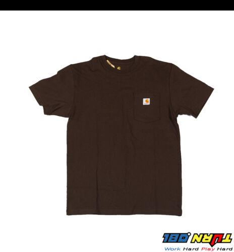 Carhartt Men/'s T-shirt WorkWear K87 Pocket Basic Heavyweight Jersey Knit Top Tee