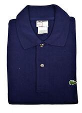 Lacoste Mens Navy Blue Original Short Sleeve Pique Golf Polo Shirt Sz 4 Medium M