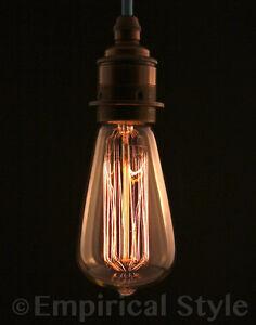 Details About Edison Vintage Tear Drop Light Bulb Globe Lamp 5000 Hours Bayonet In 40 Watt