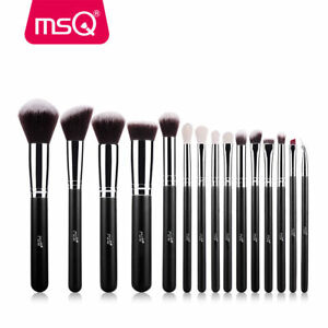 MSQ-Professional-15PCs-Makeup-Brush-Set-Powder-Cosmetic-Tool-Synthetic-Black