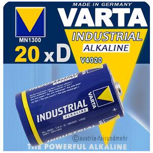 """20x Varta Batterie 4020 Mono D Lr20 Mn1300 Industrial So Effektiv Wie Eine Fee"