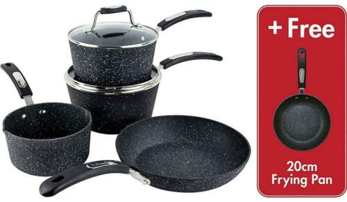 scoville never stick kitchen 5 piece cookware set inc frying pan brand new boxed