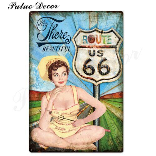 Винтажный сексуальный Pin Up Girl металлической бляшкой-винтаж//ретро 40-е годы 50-х годов 60-х годов жестяная вывеска бар