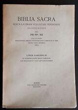 BIBLIA SACRA 5 LIBER SAMUHELIS Bibbia 1943 Sancti Hieronymi Monaci Benedettini